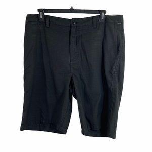 quicksilver black gray checked size 38 mens shorts